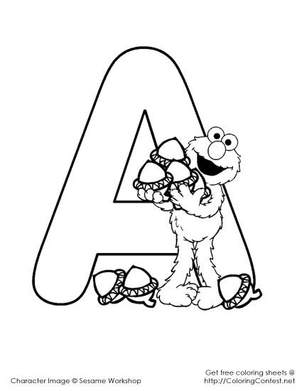 Alfabet Elmo Docx Kolorowanki Dla Dzieci Do Druku