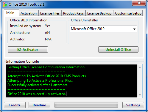 microsoft office professional 2010 ez activator